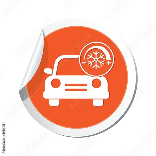 Car service. Car with air conditioner icon