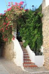 Urban scenic of Ibiza town, Spain