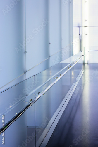 corridor in the building