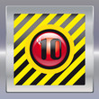 Alarm schwarz gelb rot 10