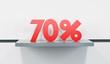 sale at 70 percent