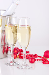 Holiday - Champagne glasses with bubbles