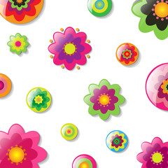 Background With Cartoon Flowers