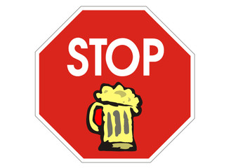 Stop mit Alkohohl