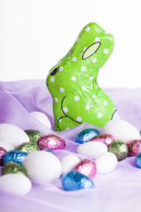 green chocolate bunny