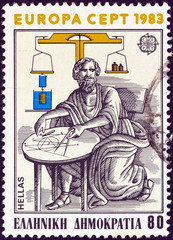Mathematician and physicist Archimedes of Syracuse (Greece 1983)