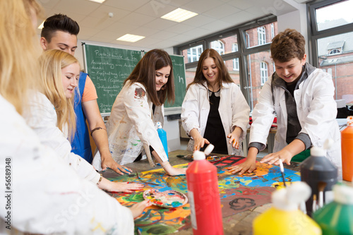 canvas print picture Kunstunterricht in der Schule