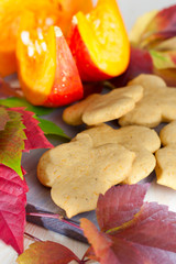 Leaf shaped pumpkin cookies