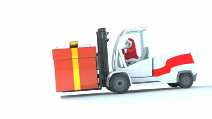 Santa drives a loader version 2