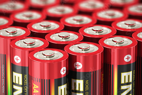 Macro view of AA batteries