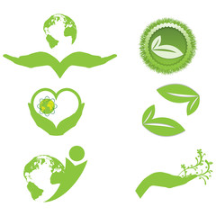 Ecology symbols and logo