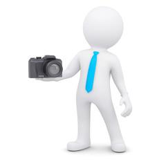 3d man and camera