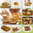 collage of different poultry foods