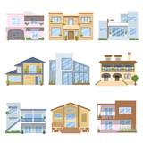 Casas con bonitos colores y diseños poster