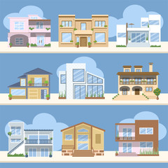 Casas con bonitos colores y diseños