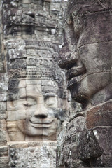 Bayon temple faces in Angkor Cambodia