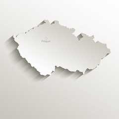 Czech map natural paper 3D