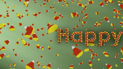 Falling Candy Corn Title Looping Animation