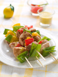chicken and vegetable kebab