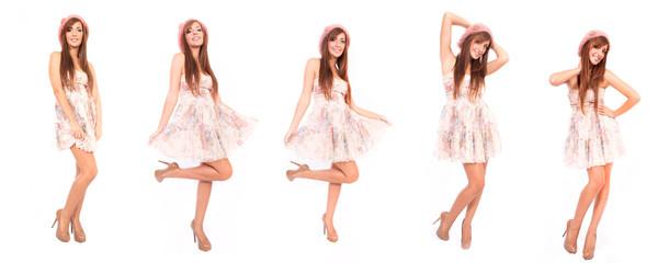 Herbst Kleid Kollage