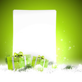 Modern Christmas background with empty paper