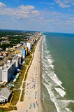 Aerial View of Myrtle Beach Coastline-1