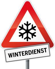 Schild Winterdienst