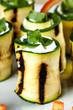 involtini di zucchine e formaggio caprino con rucola