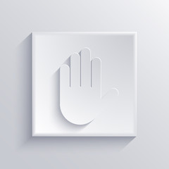 Vector light square icon. Eps 10