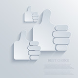 Vector thumb up icon background. Eps10