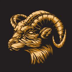 Zodiac Aries Black