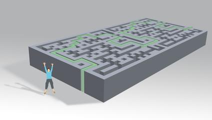 Labyrinthe réussite