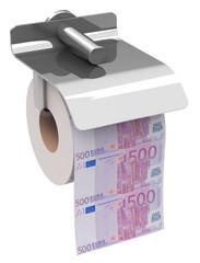 Euro als Toilettenpapier