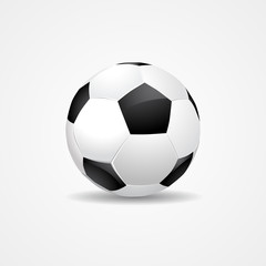 Soccer ball on white background - vector eps10