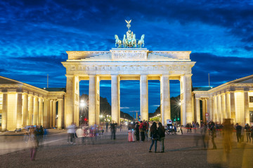 Brandenburg gate at sundown