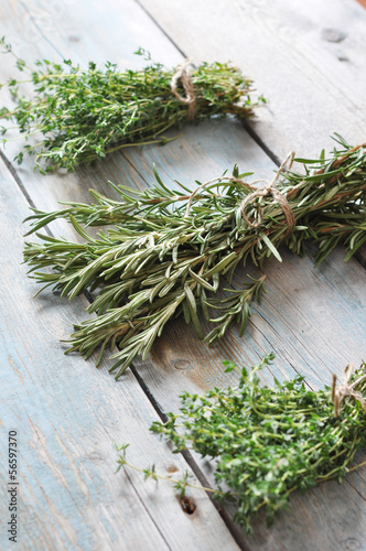 fresh rosemary and thyme