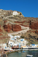 Amoudi bay in Oia village (Santorini island, Greece)