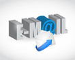 email text envelope illustration design