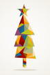 Merry Christmas trendy tree composition EPS10 file.