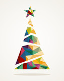 Merry Christmas trendy abstract tree EPS10 file.