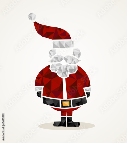 Merry Christmas trendy Santa Claus triangle shape EPS10 file.