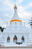 Ancient white pagoda north, Thailand.