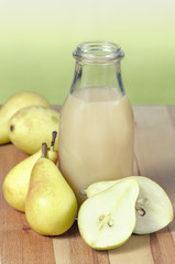 Pears and pear juice