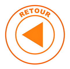 retour sur bouton web orange