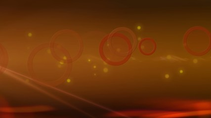 Orange circles and dots abstract background