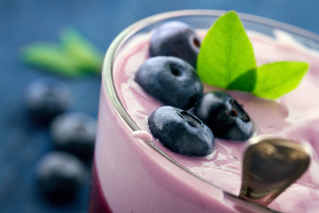 Healthy yogurt with berries