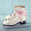 White women's ice skates