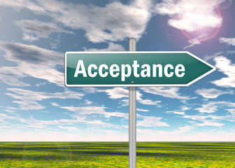 "Signpost ""Acceptance"""