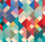 abstract geometric background with stylish retro colors