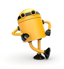 Robot leaning on an imaginary object